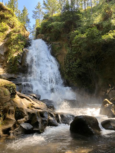 La cascada de La Yeguada
