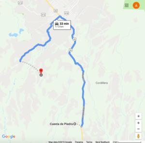 Ruta Cuesta de Piedra - Volcán