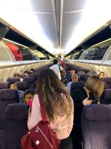 Entrando en el Avión