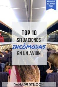 Pin Top 10 Situaciones Incómodas en un Avión